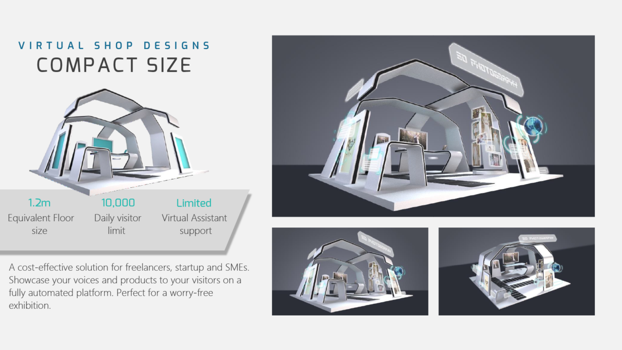 compact size booth